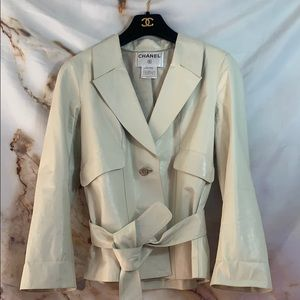 Authentic White Chanel Calfskin Jacket